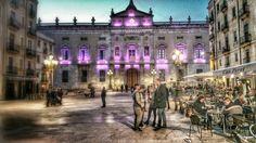 Vista nocturna: Ajuntamiento Tarragona.