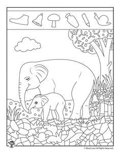 Easy Hidden Pictures with Animals Printable Activity Pages | Woo! Jr. Kids Activities