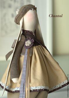 Зайка текстильная игрушка Chantal - 38 cм - коричневый,текстильная игрушка