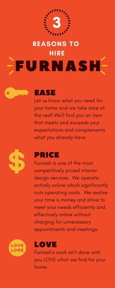 Reasons to Hire Furnash!  Online affordable interior design