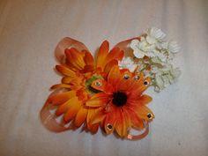 Fall Corsage  Orange corsage  Flower by AKMFloralsAndCrafts