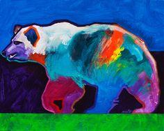 bear medicine - John Nieto   fabulous use of color!