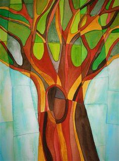 Abstract Tree -- Watercolor by Carolina Martinez