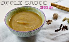 Healthy Apple sauce made with just apple - spiced up