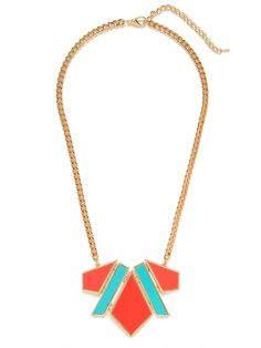 our red lynda pendant - love the color combo!