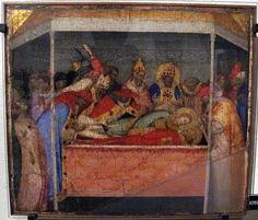 8 tavolette con Storie di Santo Stefano e ritrovamento delle sue reliquie di Bernardo Daddi (1348). Predella di una pala d'altare non identificata