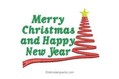 Letter embroidery merry christmas and prosperous new year - Embroidery Designs Janome, Computerized Embroidery Machine, Machine Embroidery, Types Of Embroidery, Embroidery Designs, Merry Christmas And Happy New Year, Lettering, Christmas Ornaments, Google