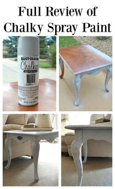 Full Review Of Chalky Spray Paint And Comparison With Chalk Paint. Great  Tutorial On How