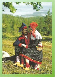 Traditional costumes Finland Lapland 6 by tucano3, via Flickr European Costumes, Costumes Around The World, Lappland, Costume Patterns, Folk Costume, My Heritage, First Nations, People Around The World, Traditional Outfits