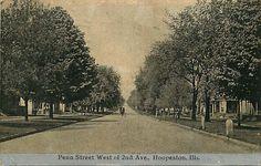 Postcard Penn Street Scene Hoopeston Illinois | eBay
