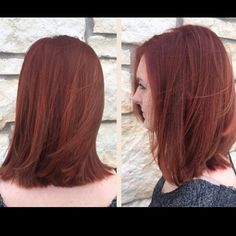 Tyler is now a gorgeous redhead! We used a darker red at the base and then…