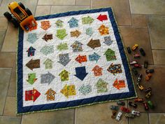 One baby quilt pattern that's as fun to make as it is to see is the Arrows on the Go Quilt. Charm quilts are always enjoyable to make into baby quilt patterns because of how cute the patterns can be, and this quilt adds some extra fun.