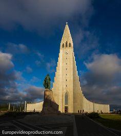 Hallgrímskirkja church in Reykjavik in Iceland – Symbol of Reykjavik