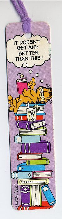 Garfield #2. randy loves to read, and Garfield. Randy started eating lasagna because Garfield did too.