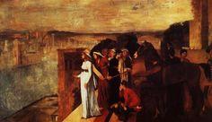 Semiramis Building Babylon - Artista: Edgar Degas Data da Conclusão: 1861 Estilo: Impressionism Género: history painting Técnica: oil Material: canvas Dimensões: 151 x 258 cm Galeria: Musée d'Orsay, Paris, France