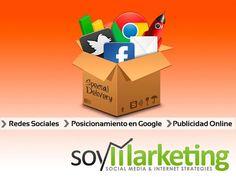 SoyMarketing es una empresa de marketing digital que tiene como prioridad posicionar tu negocio por encima de la competencia, a través de Internet.  Somos un grupo de individuos talentosos y dedicados con pasión a la optimización de motores de búsqueda (SEO), marketing en redes sociales y todo tipo de publicidad digital.