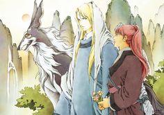陽子 Youko、景麒 Keiki、班渠 Hankyo:十二国記 Juuni Kokki/Twelve Kingdoms - fanart