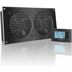 AC Infinity AIRPLATE T7, Quiet Cooling Fan System With Thermostat Control,  For Home Theater