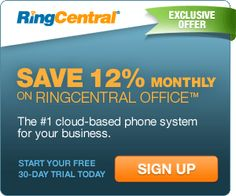 RingCentral Office Business Phone System - Save 12%