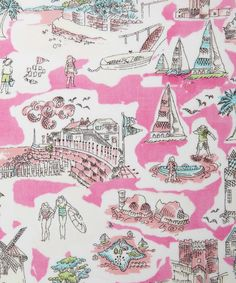 Isle of Wight C Tana Lawn. Created in-house, using washes of ink and Rotring pen | Liberty Art Fabrics