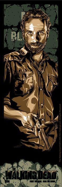 """the walking Dead. Fear The Living: Michonne, Rick, Daryl Set"""