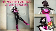 Mettaton EX Cosplay Tutorial - Wig Styling! Mettaton Cosplay, Undertale Cosplay, Cosplay Tutorial, Cosplay Diy, Cosplay Costumes, Mettaton Ex, Costume Design, Wigs, Darth Vader