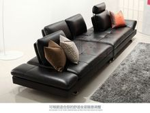 Home Furniture Furniture Just Real Leather Sofa Sectional Living Room Sofa Corner Home Furniture Couch L Shape Functional Backrest Modern Stainless Steel Legs