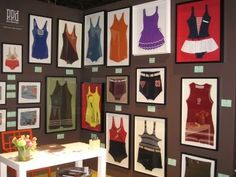 petrie point designs framed vintage swimsuits