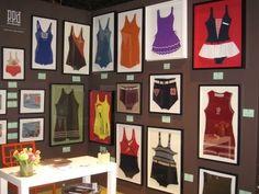 framed vintage bathing suits...