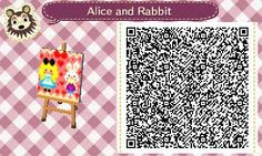 Alice and the rabbit Pattern