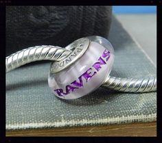 Baltimore Ravens NFL Genuine Pandora Charm Bracelet Bead