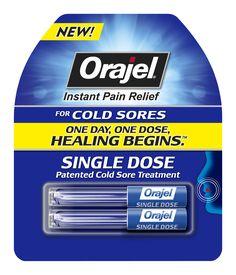 Orajel Single Dose Cold Sore Treatment.