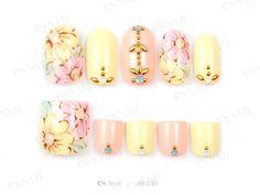88-030 Asian Nail Art, Asian Nails, Es Nails, Nail Set, Pretty Toes, Mani Pedi, Nail Inspo, Bridesmaid Hair, Nail Designs