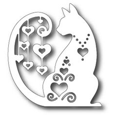 Tutti Designs - Fancy Hearted Cat, Metal Die Measures approximately x Cat Crafts, Frame Crafts, Diy And Crafts, Paper Crafts, Owl Wreaths, Easter Bunny Eggs, Rose Frame, Frame Wreath, Diy Scrapbook