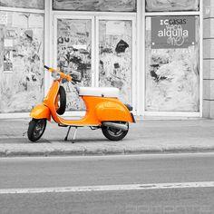 Vintage Orange Vespa