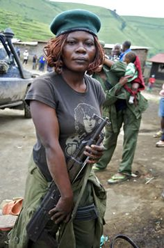 A female soldier in the government army in the Democratic Republic of the Congo: New staffing, improved training and other reforms are needed so that Africa's security forces can better protect women.