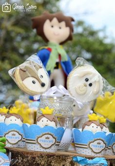 Fun cookie pops at a Little Prince birthday party! See more party ideas at CatchMyParty.com!
