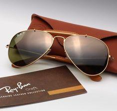 Ray Ban Leather Aviators