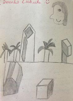 Foto do desenho do meu Sketchbook , tentei retratar o cubismo ..