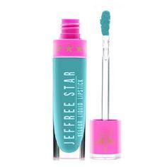 Jeffree Star Breakfast At Tiffany's Liquid Lipstick (€27) via Polyvore featuring beauty products, makeup, lip makeup, lipstick, lips, beauty, jeffree star en jeffree star lipstick