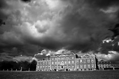 Gorgeous moody spring sky over Wimpole Hall by Huw Hopkins Photography, via Flickr