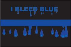 Thin Blue Line Family Bleed Blue Reflective Decal