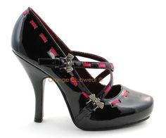 PLEASER Womens Gothic Vampire Costume High Heels w Bats | eBay