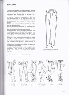 La tecnica dei modelli uomo donna 1 Sewing Clothes, Hair Accessories, Drawings, Albums, Diy, Dressmaking, Clothing, Book, Sewing Projects