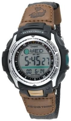 Nice: Casio Men's PAS400B-5V Pathfinder Forester Fishing Moon Phase Watch: Watches: Amazon.com