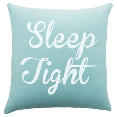 Add a welcoming touch to your guest room or master suite with this handmade cotton pillow, showcasing a charming typographic motif.