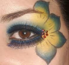 Resultado de imagen de pintar flor en la cara