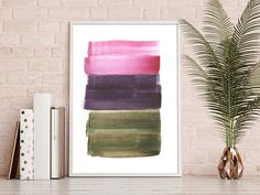 Minimalist Large Abstract Painting Interior Design Art Giclee Print Watercolor Painting by AcrylicVSWatercolor Interior Paint, Interior Design, Watercolor Paintings Abstract, Giclee Print, Design Art, Minimalist, Unique Jewelry, Handmade Gifts, Etsy