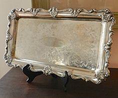 Vintage Silver Plated Tray. Large Rectangular by LAREfurbish, $38.00