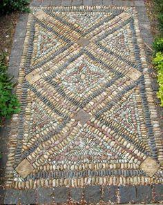 Pebble mosaic by Jeffrey Bale. jeffreygardens.com